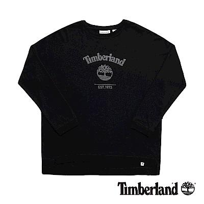 Timberland 女款黑色Bat-wing大樹Logo運動上衣|B2505