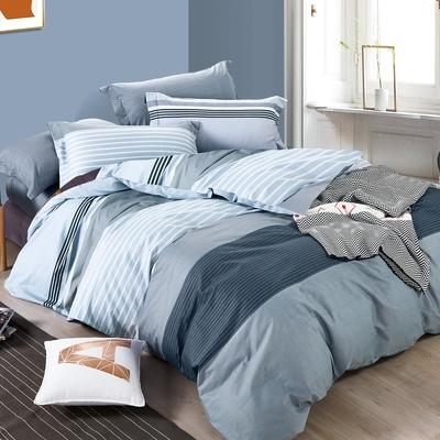 3-HO-100%純棉-單人床包/枕套組-經典回味
