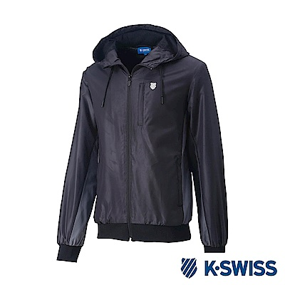 K-SWISS Contrast Side Panel 風衣外套-男-黑