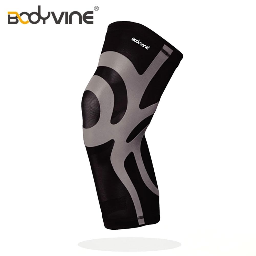 【BODYVINE】CT15512 超薄貼紮護膝 / 灰色 S~2XL(護具,運動)