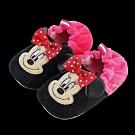 迪士尼童鞋 米妮 柔毛電繡寶寶學步鞋-黑桃