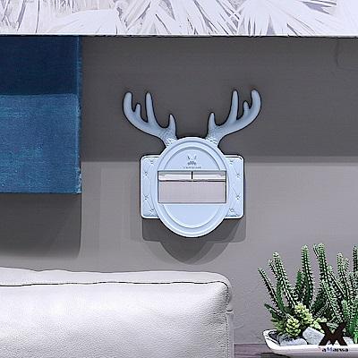 VaMarssa福鹿壽喜開關板冷漿陶瓷小插座開關蓋卡準式-藍