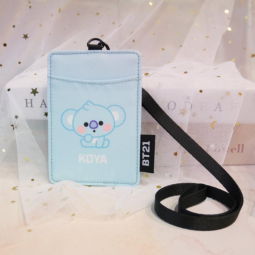 宇宙明星BT21-BABY寶寶卡片套-KOYA-藍色 ODBT20D07LB