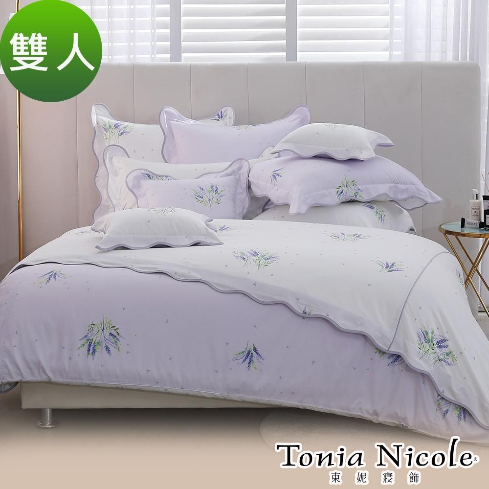 Tonia Nicole東妮寢飾 南法微風100%高紗支長纖細棉被套床包組(雙人)