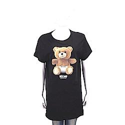 MOSCHINO Underwear 內褲泰迪熊寶寶黑色長版棉質T恤