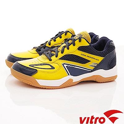 Vitro韓國專業運動品牌-HIT-Y/N頂級羽球鞋-黃藍(男)