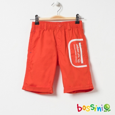 bossini男童-時尚短褲01橘紅