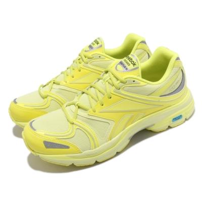 Reebok 慢跑鞋 Premier Road Plus 男女鞋 輕量 透氣 舒適 避震 運動 情侶 反光 黃 綠 H01074