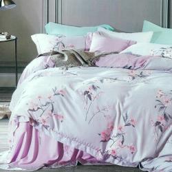 La Lune 裸睡親膚科技天絲雙人床包枕套3件組 無盡的愛-紫