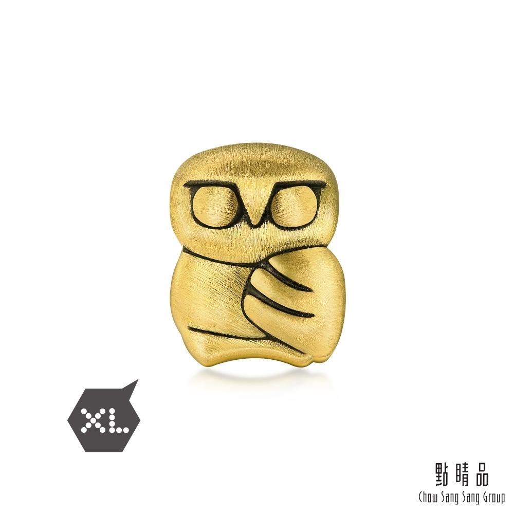 點睛品 999純金 Charme XL 聖潔貓頭鷹 黃金串珠