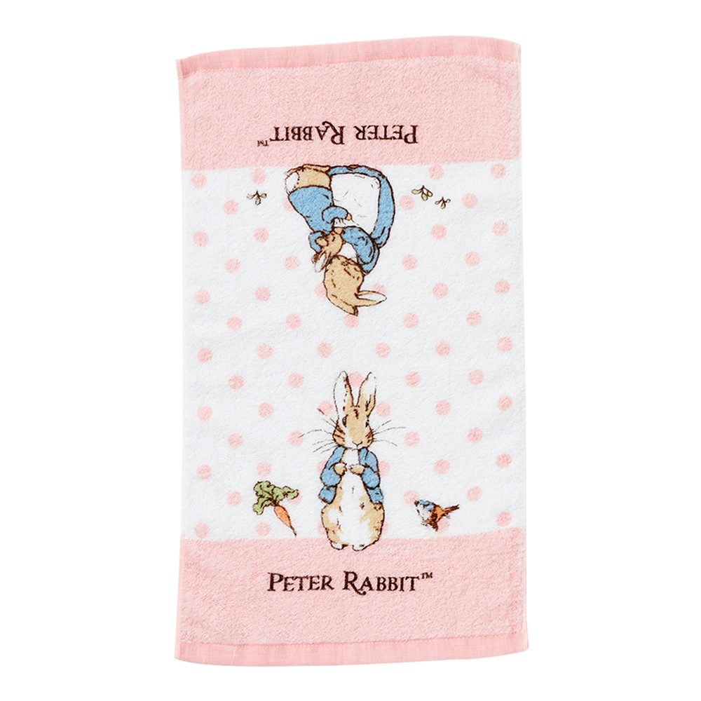 奇哥 圓點比得兔純棉童巾-粉紅 (58x32cm)