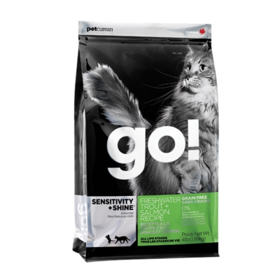 Go! 80%淡水鱒魚無穀貓糧《16磅》WDJ推薦
