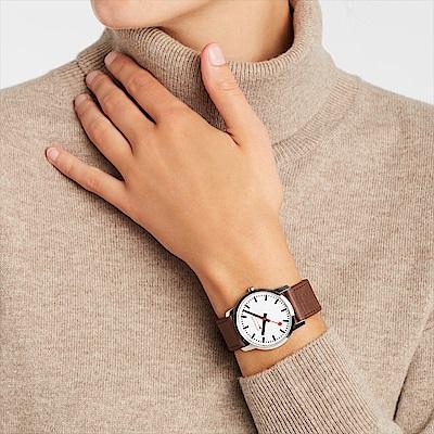 MONDAINE 瑞士國鐵 Simply Elegant 緻薄典雅系列腕錶/36mm 40011BG