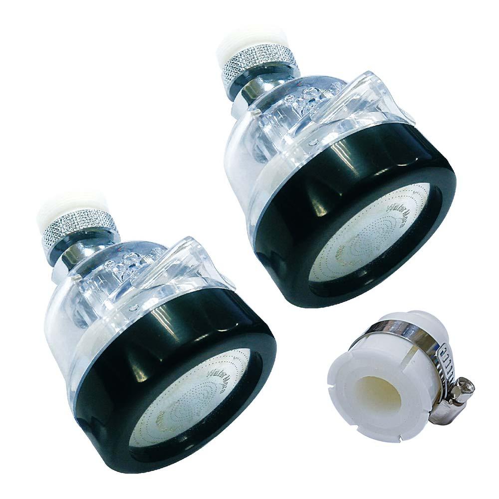 (2入+送轉接頭)水摩爾 三段增壓水花轉換器(銅電鍍轉接頭加強耐用款)