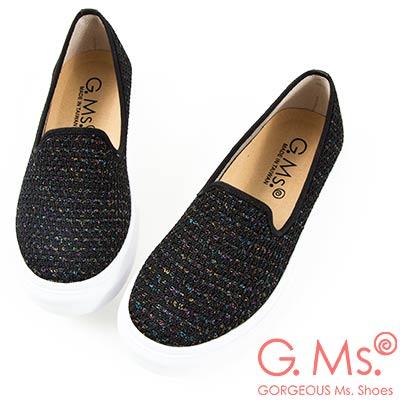 G.Ms. MIT系列-極輕量樂福懶人休閒鞋-網布黑