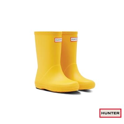 HUNTER - 童鞋 - 小童經典霧面短靴 - 黃