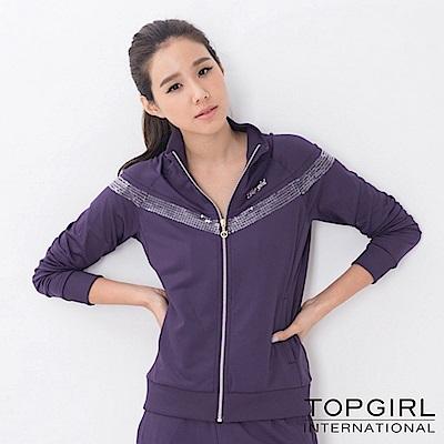 【TOP GIRL】銀河系女孩POLY針織長褲-深情紫
