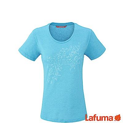 LAFUMA-女VEGETAL 排汗短袖T恤-LFV113838410-湖水藍