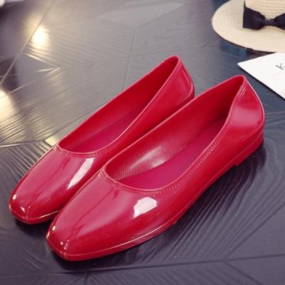 韓國KW美鞋館-高貴氣質閃亮平底鞋-紅色