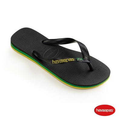 Havaianas哈瓦仕 拖鞋 夾腳拖 人字拖  巴西 男鞋 女鞋 黑 4140715-0090U Brasil Layers