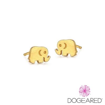 美國DOGEARED 幸運大象鍍金祈願耳釘 Elephant Stud Earrings
