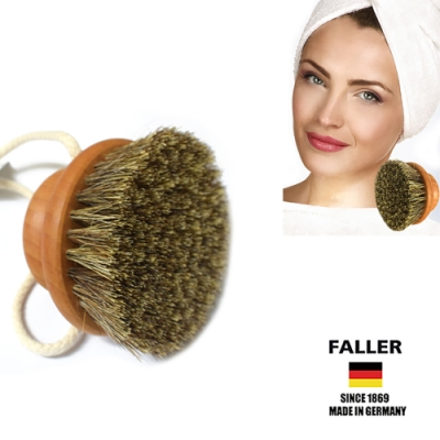 FALLER芙樂德國製圓形馬毛植纖身體按摩刷 (一入)