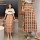 【韓國K.W.】百變美人玩轉復刻小清新印花半身裙