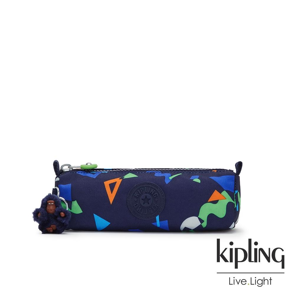 Kipling 童趣幾何圖騰長形拉鍊包-FREEDOM