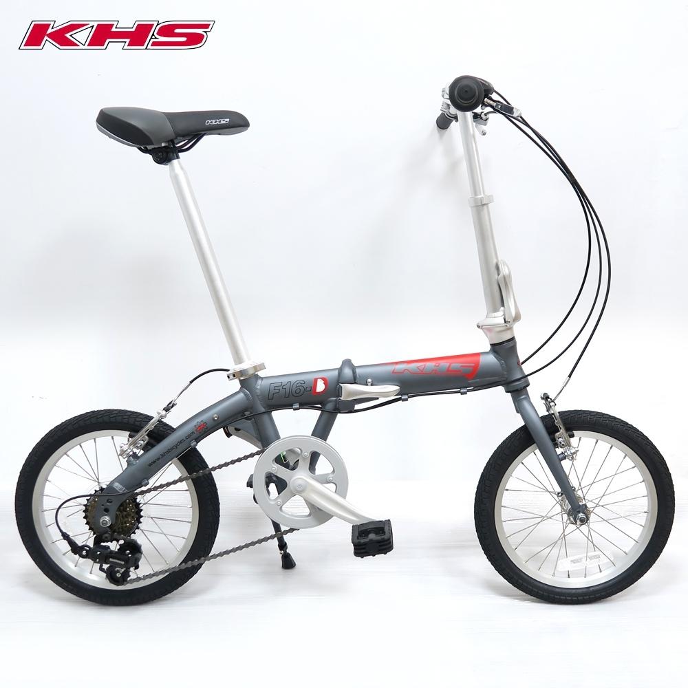 KHS 功學社 F-16D 鋁合金 16吋輪 6速折疊單車-元鈦