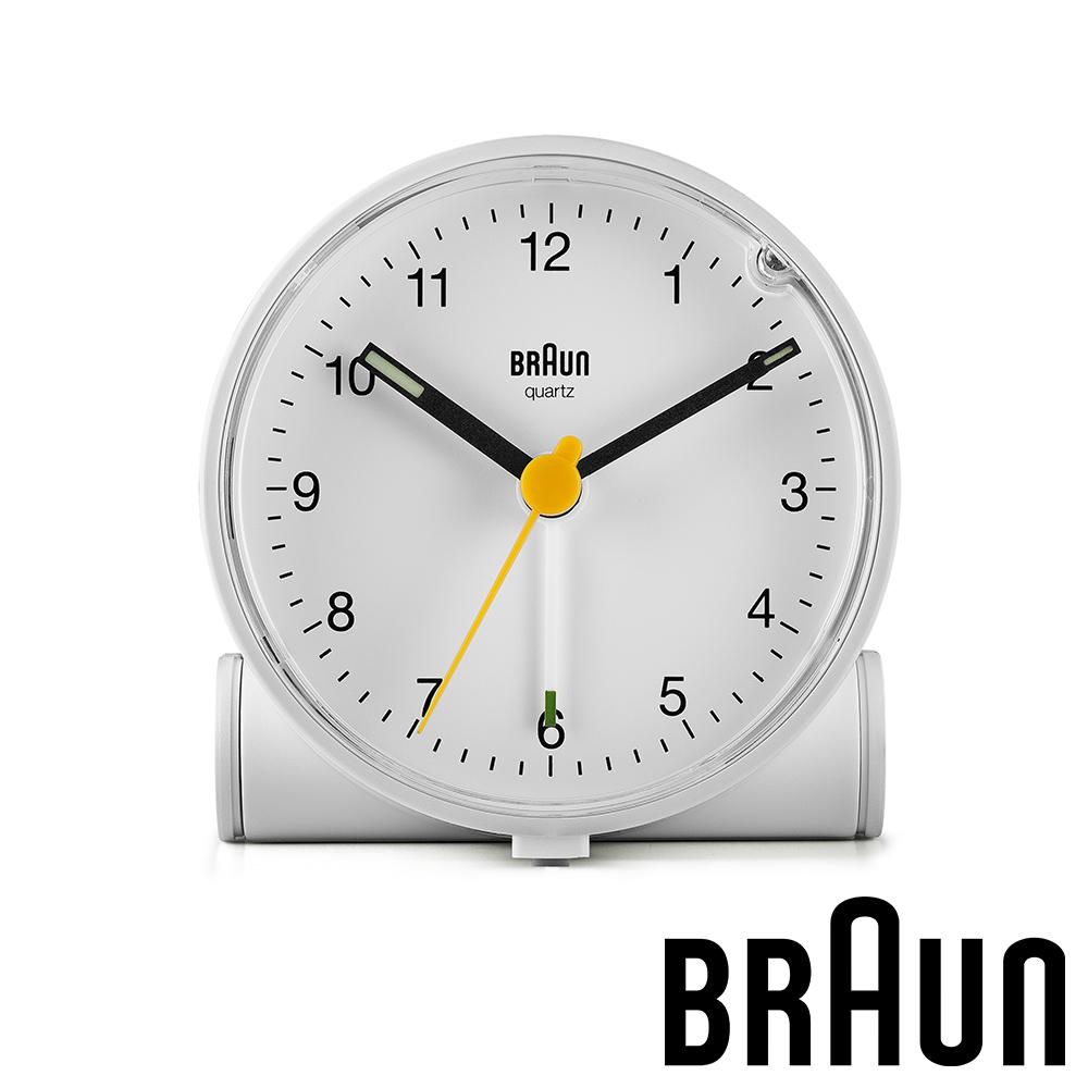 德國百靈 BRAUN 經典復古版圓形鬧鐘 (BC01W)-質感白