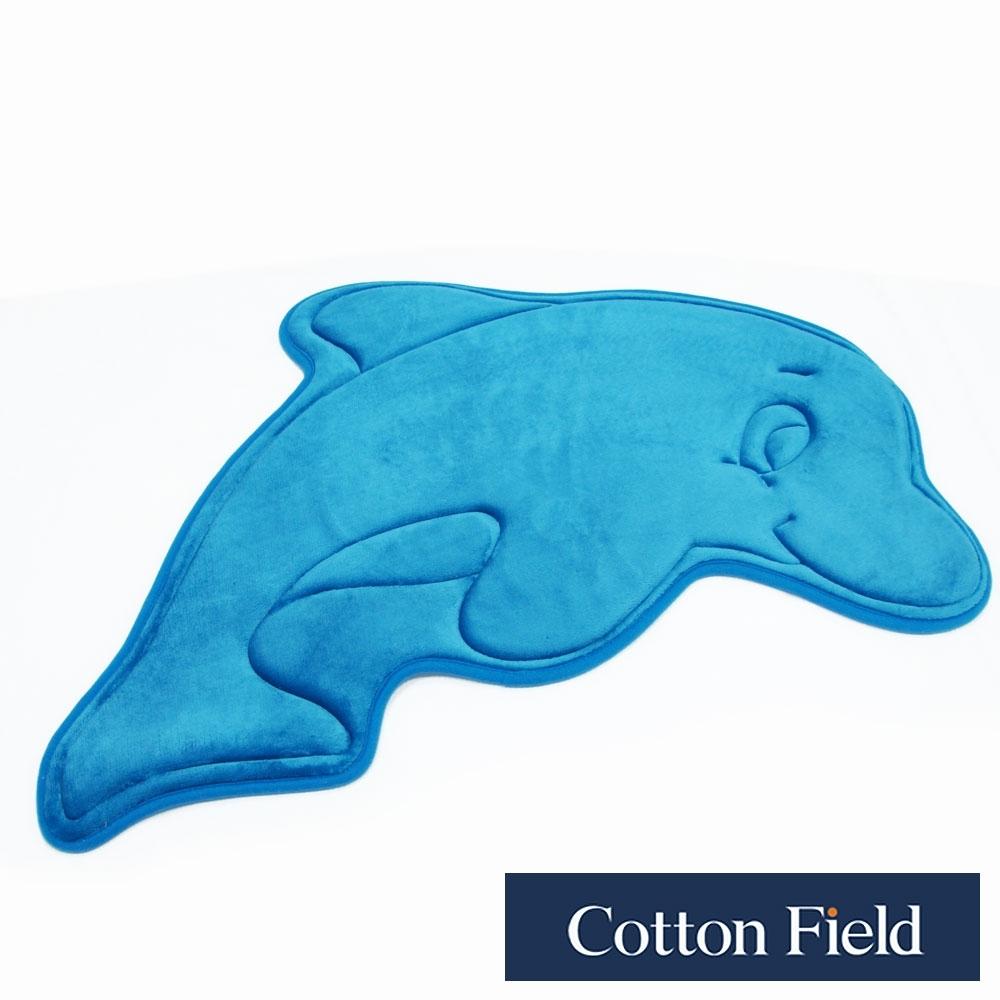 棉花田 海豚 舒壓記憶綿吸水防滑造型踏墊(52x84cm)