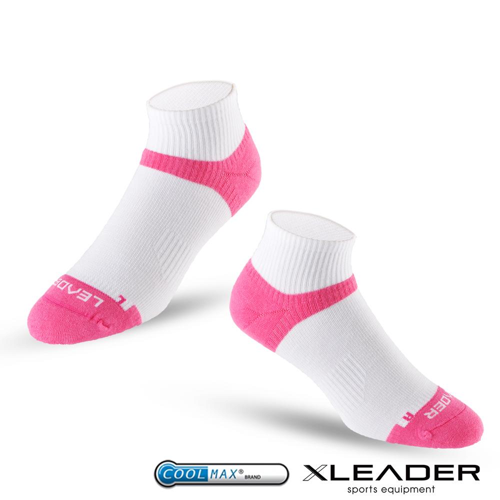 LEADER ST-06 Coolmax專業排汗除臭 機能運動襪 女款 白桃 - 急