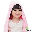 HERA 3M專利瞬吸快乾抗菌超柔纖 嬰幼童連帽巾-櫻花粉