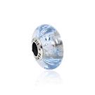 Pandora 潘朵拉 閃耀晶透藍色泡泡琉璃珠 純銀墜飾 串珠