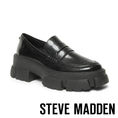 STEVE MADDEN-TANDA ROCK BOTTON 英式厚底牛津鞋-黑色