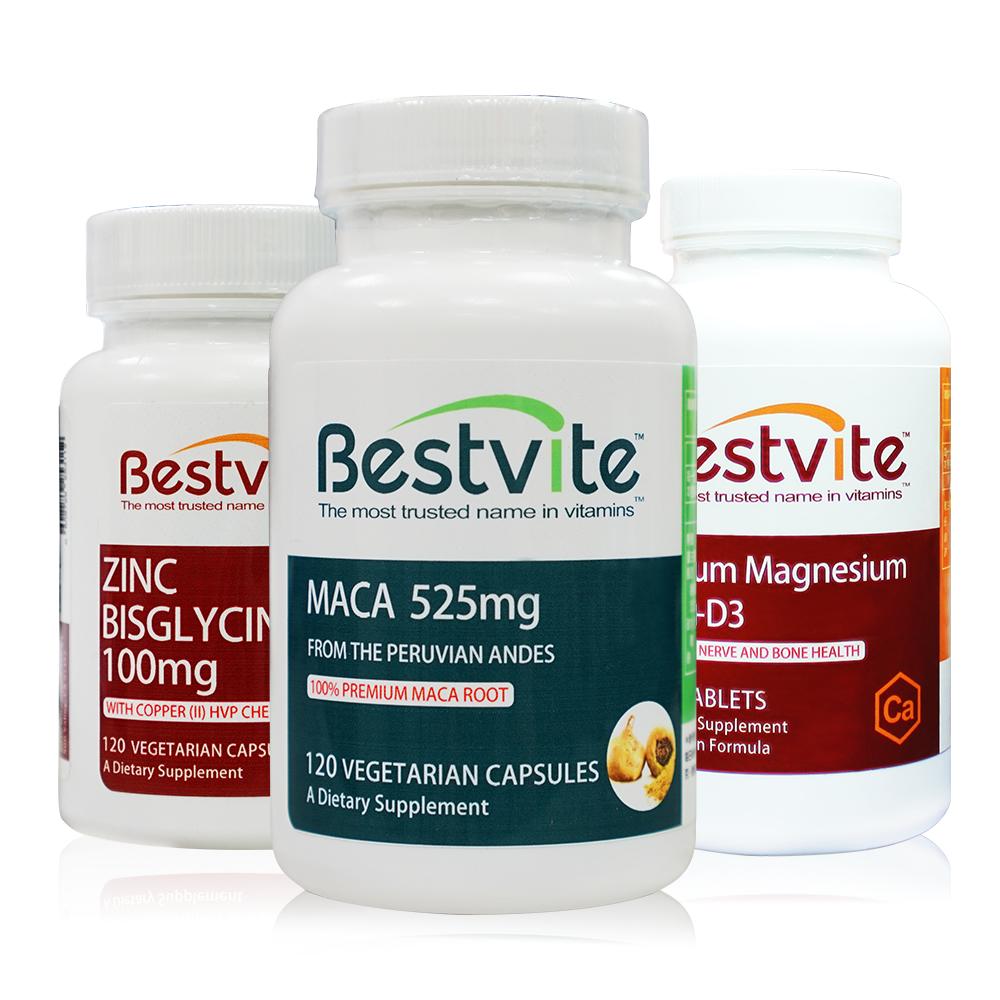 美國BestVite 至尊天際組(瑪卡+鋅+鈣)