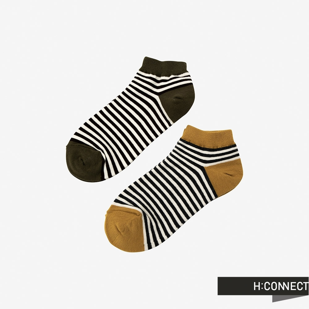 H:CONNECT 韓國品牌 配件 -條紋配色短襪組