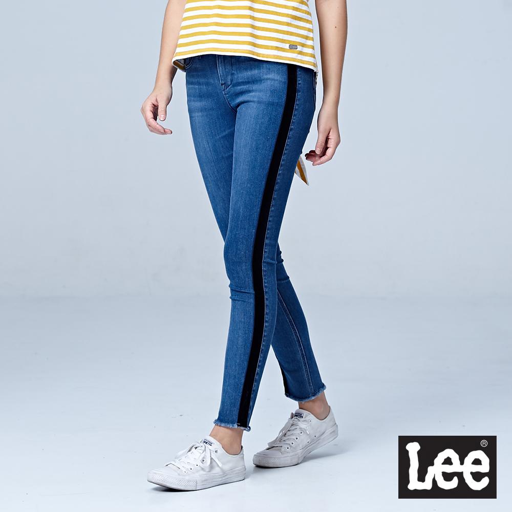 Lee 400 九分中腰貼身窄管牛仔褲/BO-中淺藍