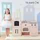Teamson 小廚師費爾德復古風格玩具冰箱廚房 (2件組-粉色) product thumbnail 2