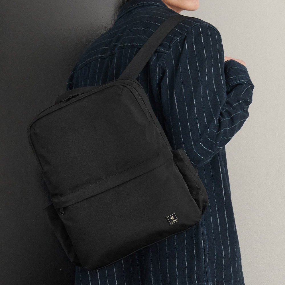 PORTER - 俐落品味INTER手提/後背兩用包 - 黑