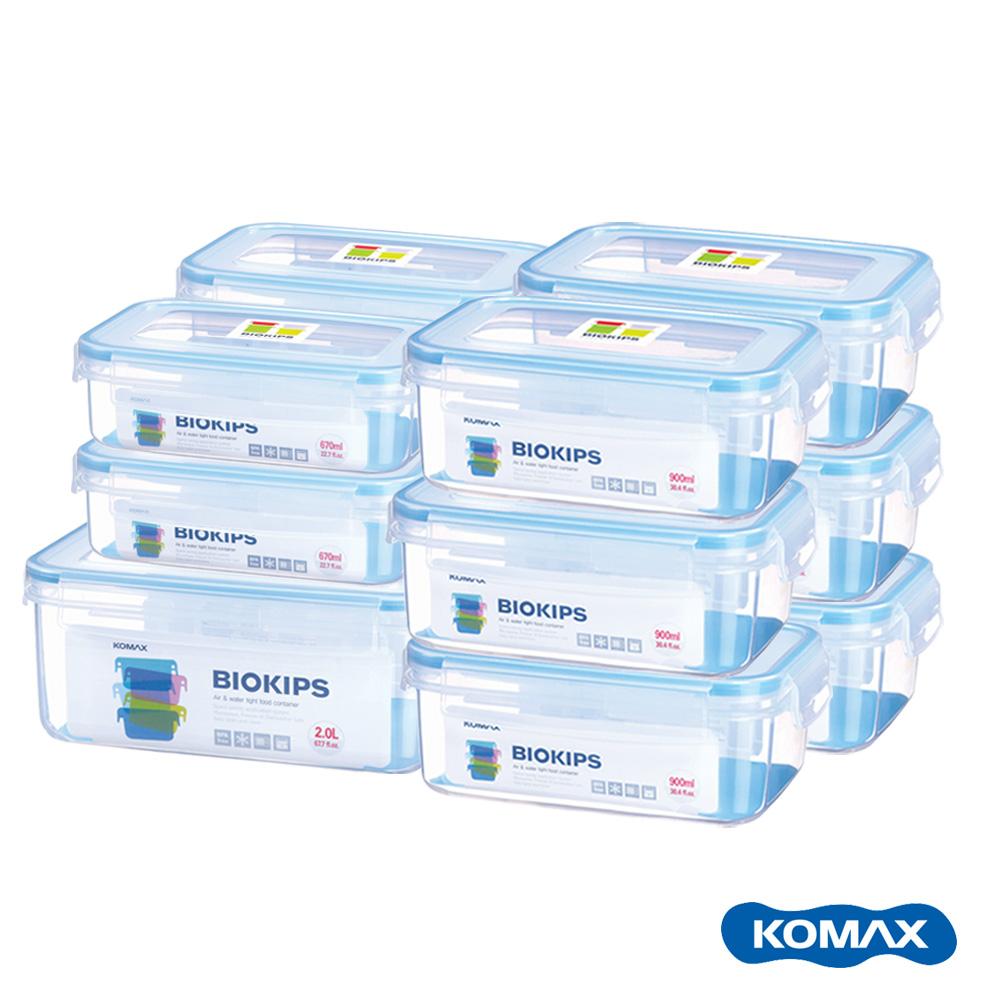 韓國KOMAX BIOKIPS耐熱方形保鮮盒12件組670ml、900ml、2000ml