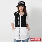 5th STREET 剪接短袖襯衫-女-米白
