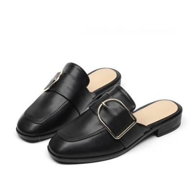 JACK&JILL 金釦穆勒低跟拖鞋 3色