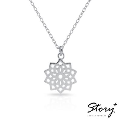 STORY故事銀飾-脈輪系列-頂輪Crown Chakra 純銀鎖骨鍊