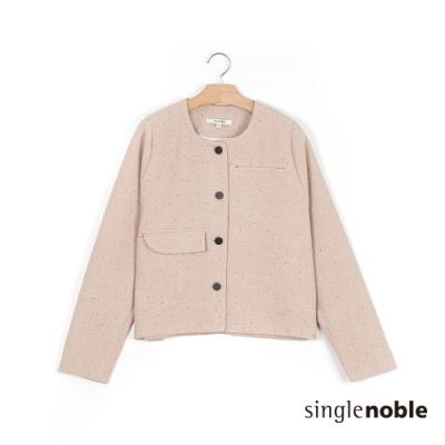 獨身貴族 優雅氣度單排釦圓領短版外套(2色)