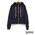 gozo 民族風刺繡圖騰抽繩連帽外套(二色)