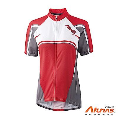 《Atunas Bike》歐都納 單車 B13045W 女短袖全彩車衣 紅