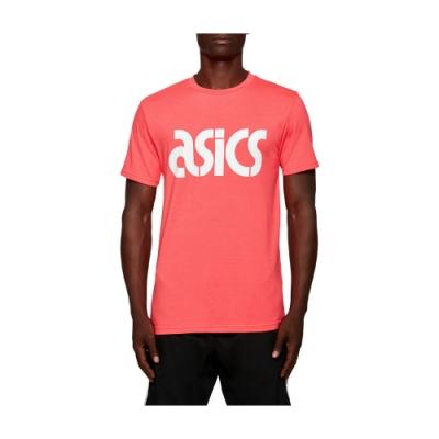 ASICS LOGO休閒短袖上衣 男 2191A168-700(桃紅)