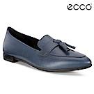 ECCO SHAPE 流蘇尖頭正裝風格芭蕾舞鞋 女-藍