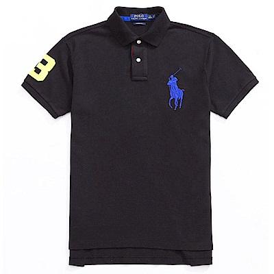 Polo Rlaph Lauren 經典電繡大馬Polo衫(Custom)-黑色